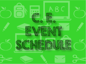 CURRICULUM ENRICHMENT SCHEDULE